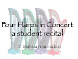 Illinois student harp recital - Ohio harp teacher