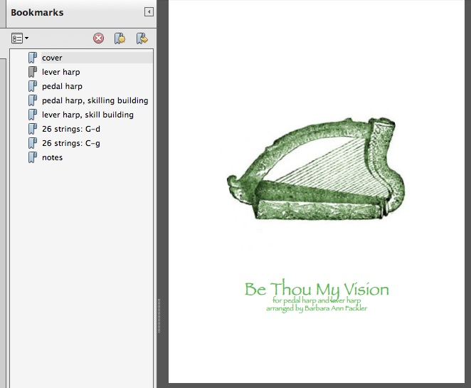 Be Thou My Vision -  for lever and pedal harp: digital sheet music - beginning to intermediate