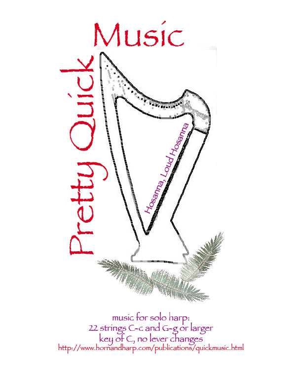 sheet music for harp: Hosanna, Loud Hosanna