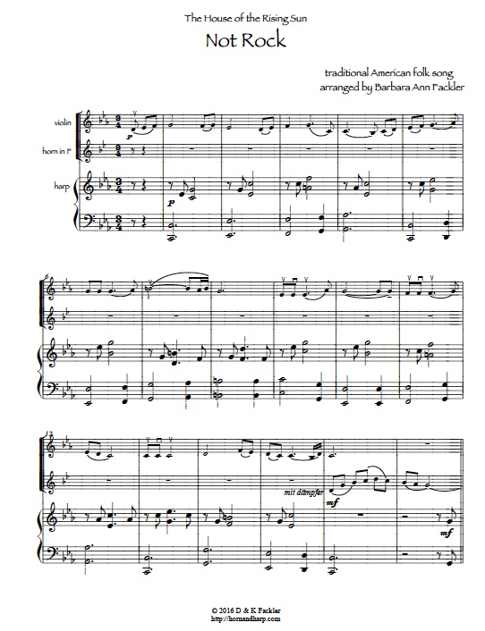 The House of the Rising Sun - sheet music