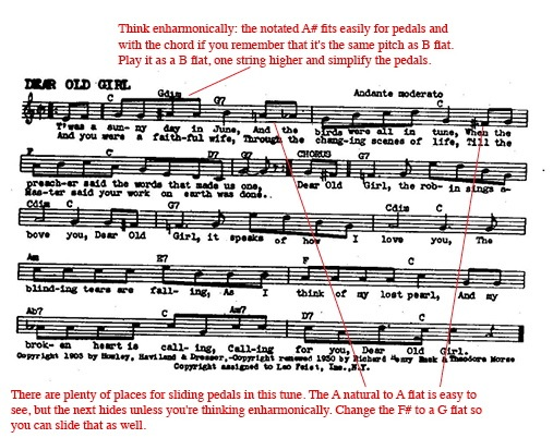 music theory for pedal harp