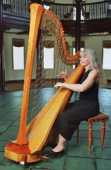 Akron, Ohio harpist performing at Hotel Baker, St. Charles Illinois