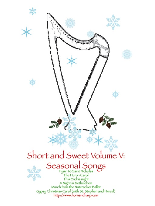 seasonal music for winterfor intermediate harp