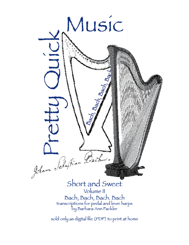 The music of Bach transcribed for intermediate pedal and lever harp.