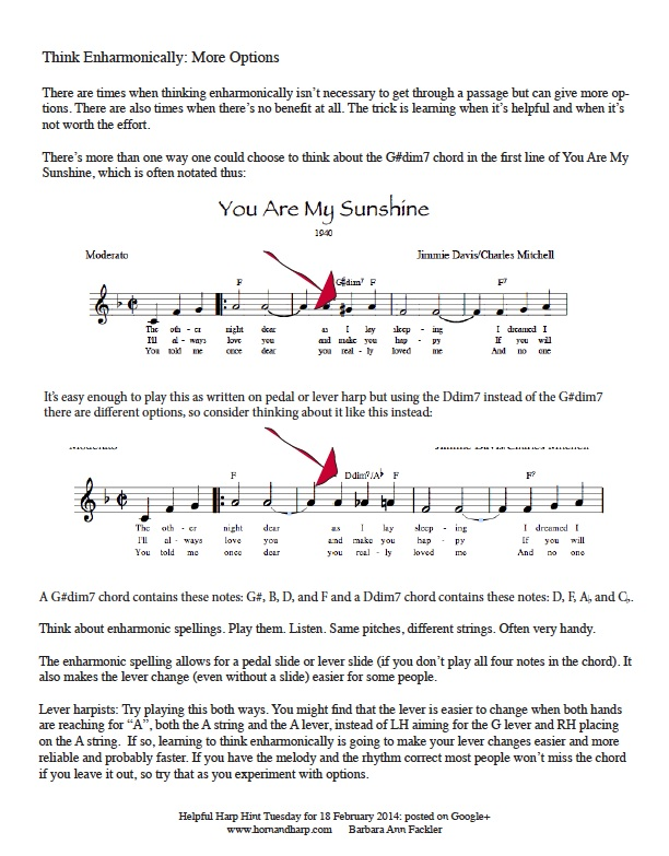 harp tip for lever harp and pedal harp: enharmonic thinking: immeditate free download