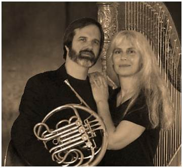 chamber music, house concerts ~ Akron Ohio horn and harp duo