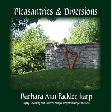 harp solo CD ~ artwork from Coventry Oaks, Firestone Metro Park, Akron Ohio