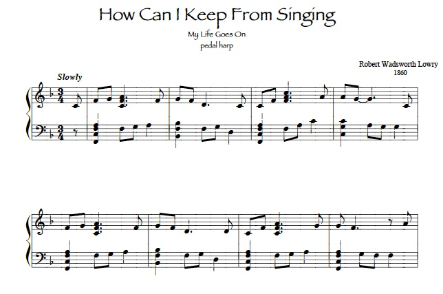 How Can I Keep From Singing harp solo