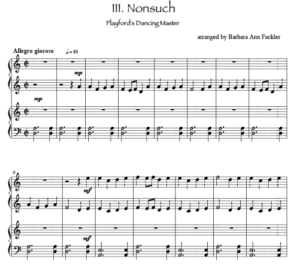 Renassiance dances for harp duet: Nonesuch for two harps: sheet music