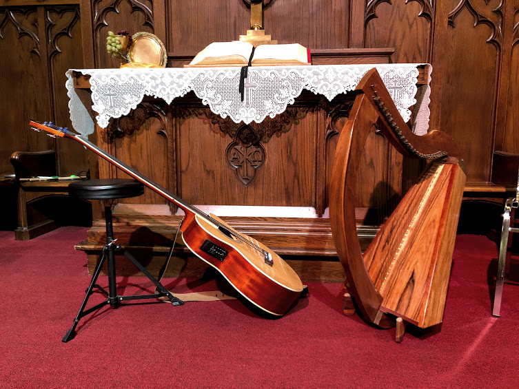 Wire harp and acoustic bass ~ Kenmore Ohio